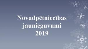 Novadpētniecības jaunieguvumi 2019